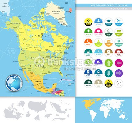 North America Political Map Vector Art | Thinkstock