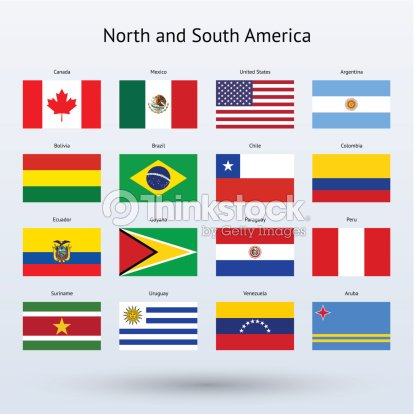 North And South America Flags Collection Vector Art Thinkstock