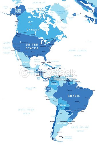 North And South America Map Illustration stock vector | Thinkstock