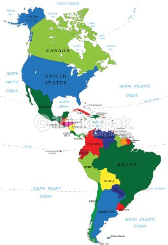 North And South America Map Vector Art Thinkstock