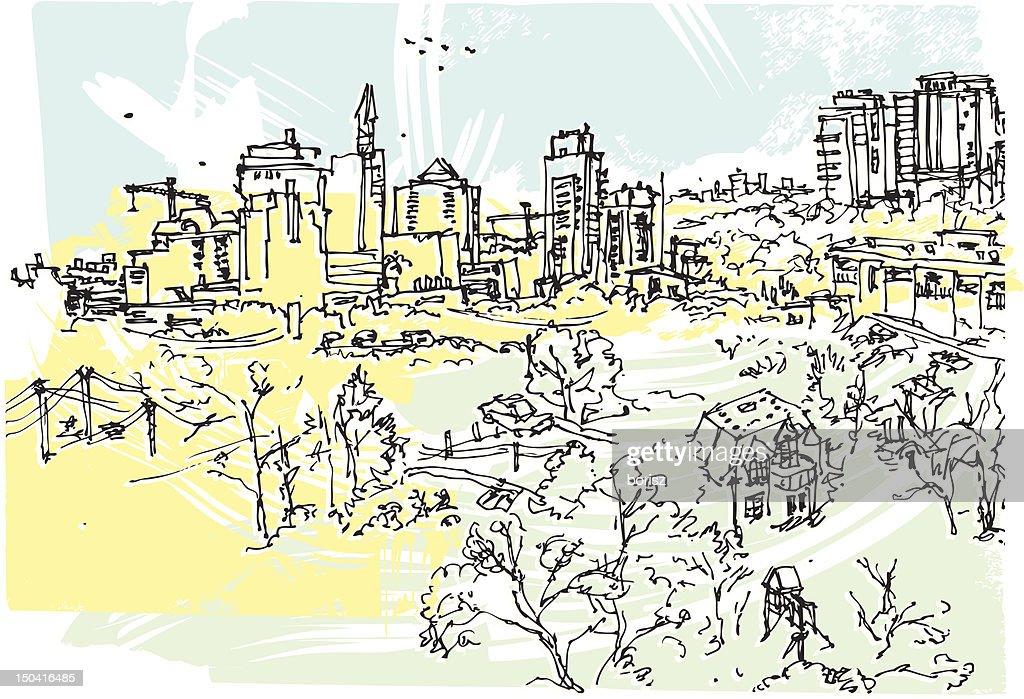 North York skyline : Vector Art
