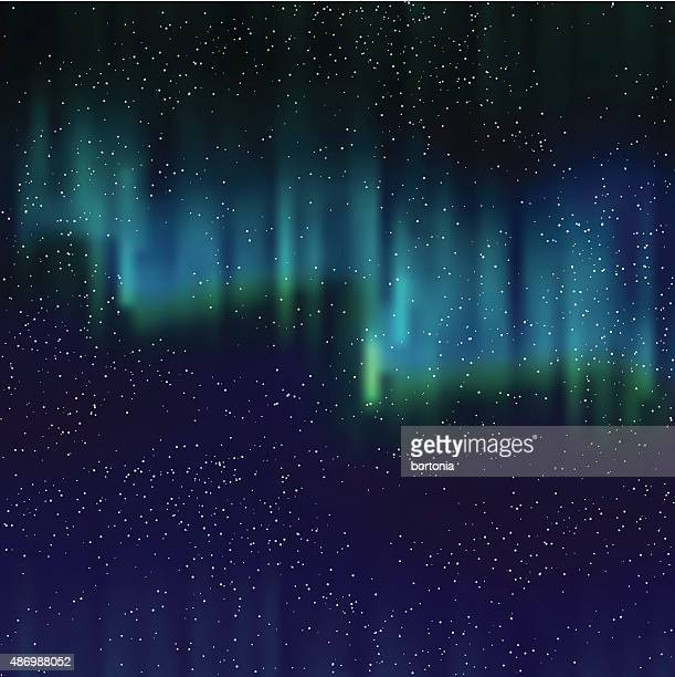 Northern Lights Background With Stars