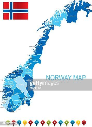 Norway Vector Map Vector Art Getty Images - Norway map eps