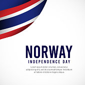 Norway independence day vector template. design for banner, greeting cards or print.
