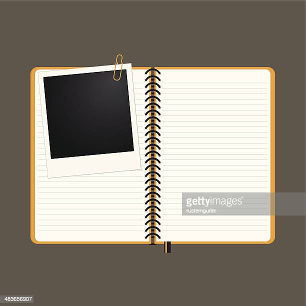 Note book and photo frame