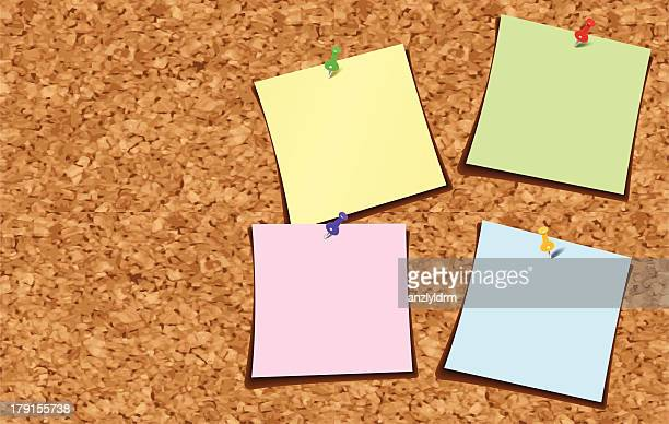 Note Paper on a Corkboard