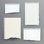 Notebook Paper With Torn Edge Vector Illustration