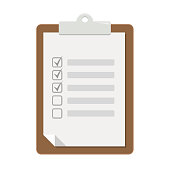 notepad clipboard flat design