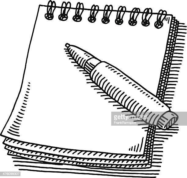 Notepad Pen Drawing