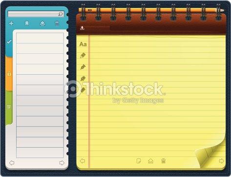 notepad template vector art thinkstock