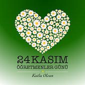 November 24 teachers day card design. ''24 Kasim ogretmenler gunu''