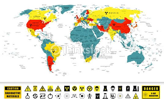 Nuclear power countries on a world map vector art thinkstock nuclear power countries on a world map vector art gumiabroncs Gallery