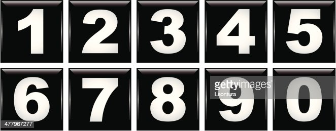 number icons vector art getty images