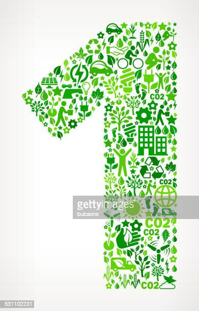 Number One Environmental Conservation and Nature interface icon Pattern
