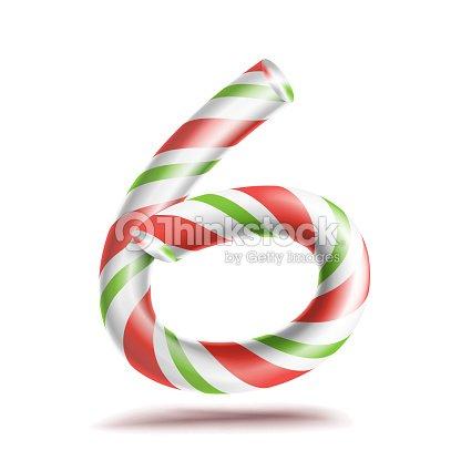 6 Número Seis Del Vector 3d Signo De Número Figura 6 En Colores De ...