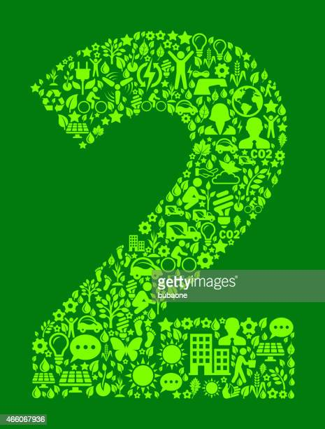 Number Two Environmental Conservation and Nature interface icon Pattern