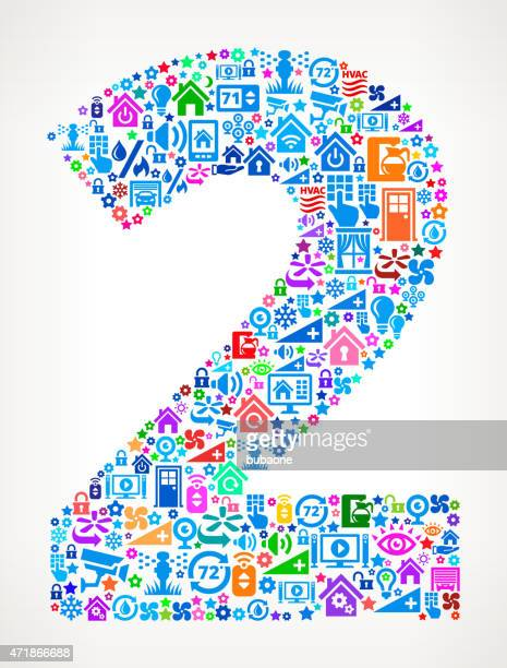 Number Two on Home Automation and Security Vector Background