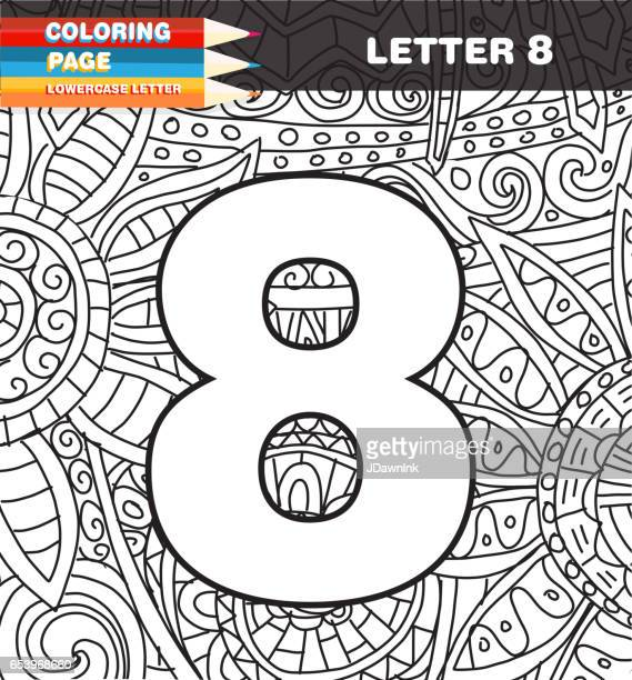 Numbers Coloring page doodle