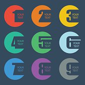 Color numbers set. Design vector illustration.