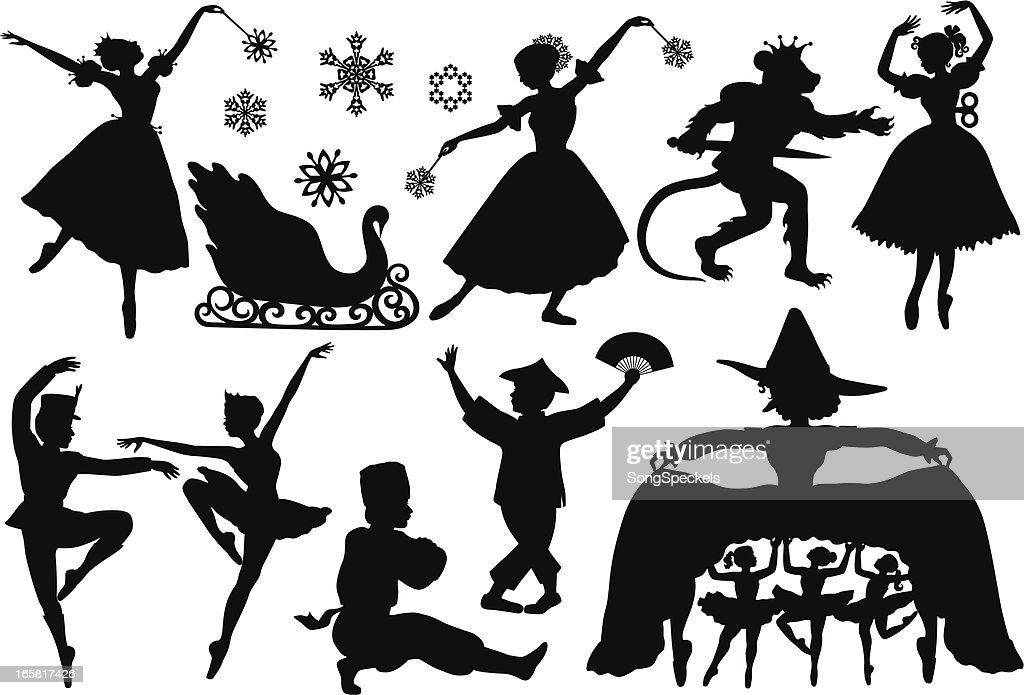 Nutcracker Ballet Silhouettes Vector Art | Getty Images