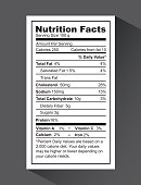 nutrition fact design, vector illustration eps10 graphic