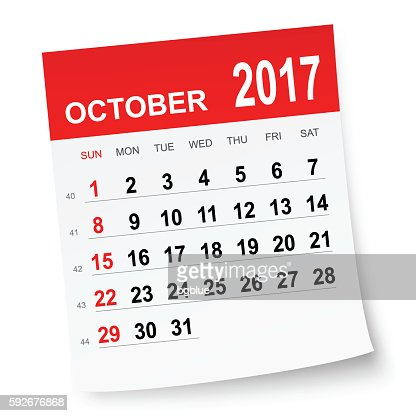 October Calendar 2017 - Dgreetings