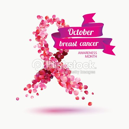 october breast cancer awareness month ベクトルアート thinkstock
