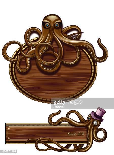 Octopus Steampunk emblem