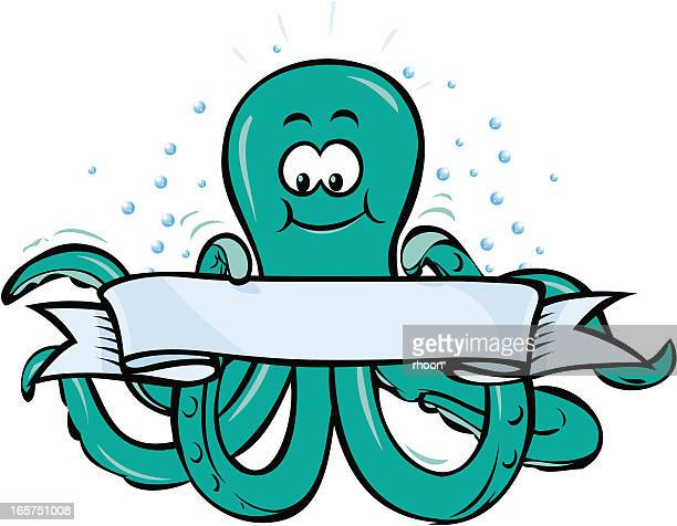 Octopus with banner