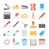 This is bold and bright set of stationery flat icons. This pack offers a friendly collection to help with all stationery flat icons needs.