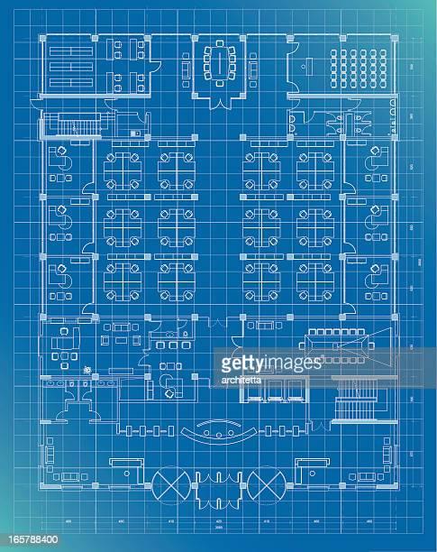 office building plan blueprint entrance floor