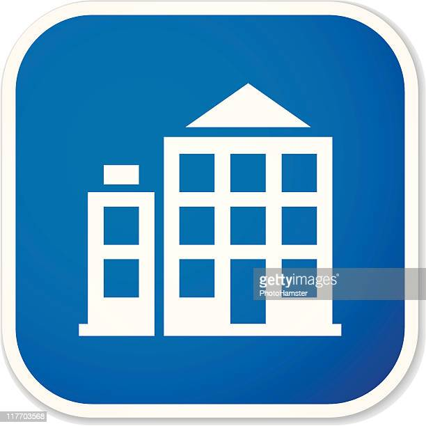 office building sq sticker