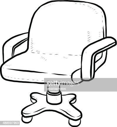 Sessel comic  Bürostuhl Comic Vektorgrafik | Thinkstock