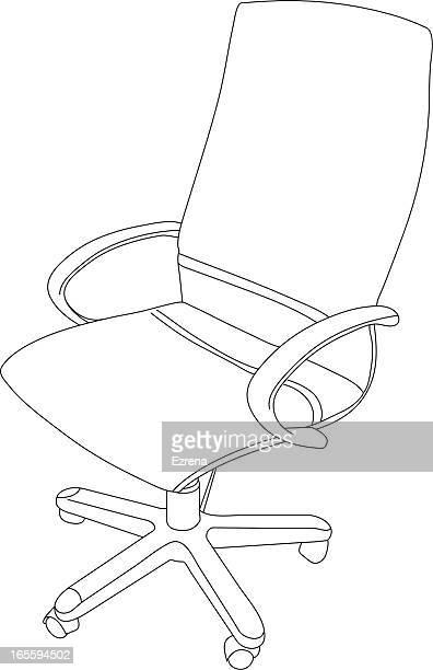 Modren Office Chair Drawing Inside Decorating