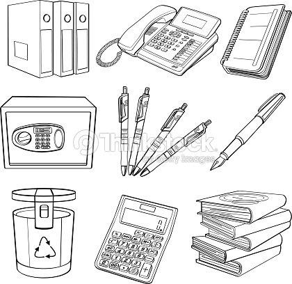 Equipo de oficina arte vectorial thinkstock for Equipo de oficina