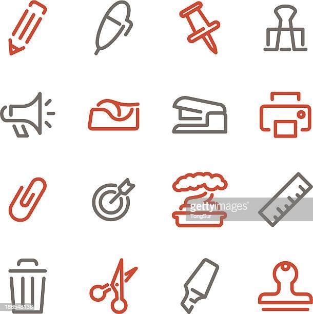 Büro Symbole/Set-Linie Color-Serie