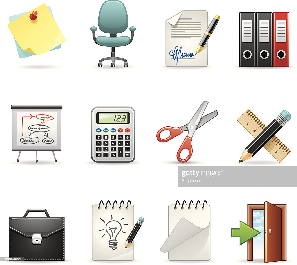 Furniture icons vector art getty images - Office Icons Vector Art Getty Images