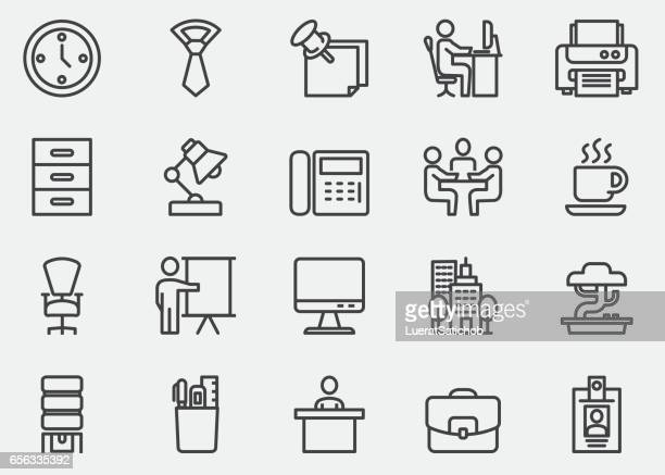 Icônes de bureau ligne | EPS10