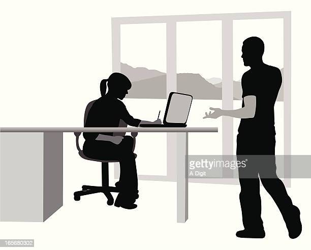 Office Talk Vector Silhouette