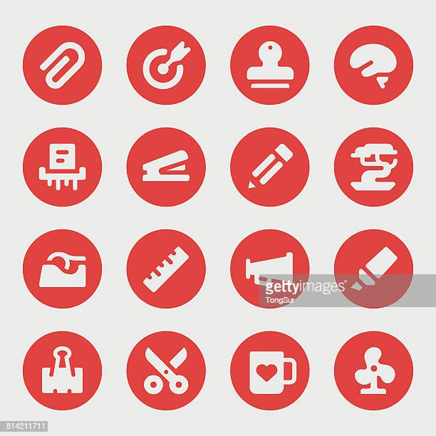 Office tools icons - Bold - Circle