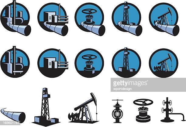 Öl und Benzin Symbole