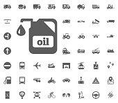 Oil icon. Transport and Logistics set icons. Transportation set icons.
