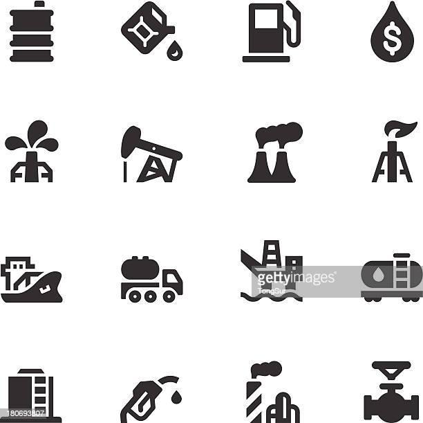 Öl-Icons-Schwarz-Serie