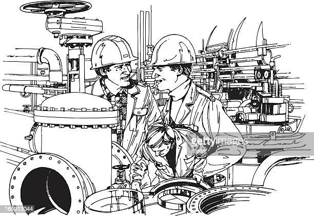 Oil Refinery Stock Illustrations And Cartoons