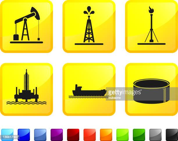 oil industry royalty free vector icon set stickers