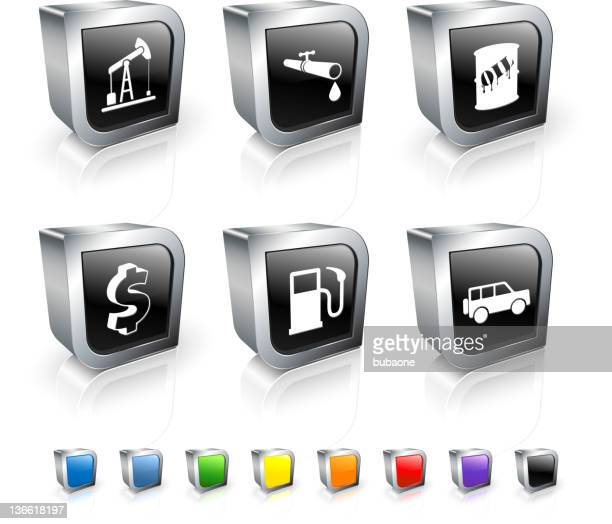 oil industry royalty free vector icon set