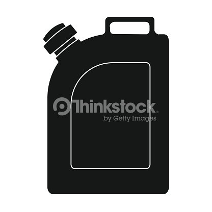 Oil Jerrycan Icon In Black Style Isolated On White Background Oil