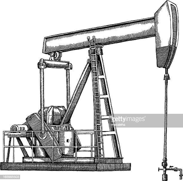oil pump stock illustrations and cartoons