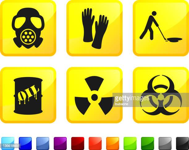 oil spill cleanup royalty free vector icon set stickers