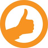 Ok sign with thumb up in circle